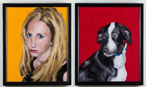 2008. Oil on Canvas. 18 x 36 inches each