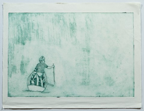 2005. Collagraph Print on Paper. 24 x 16 inches