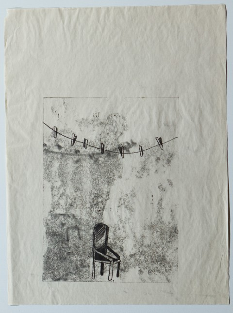 2009. Monoprint on Newsprint. 11 x 15 inches