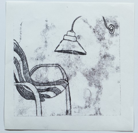 2009. Monoprint on Paper. 8 x 8 inches