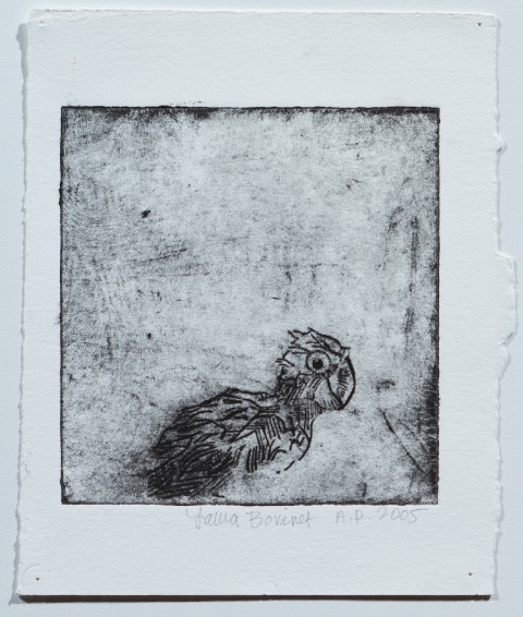 2005. Collagraph Print on Paper. 5 x 5.5 inches