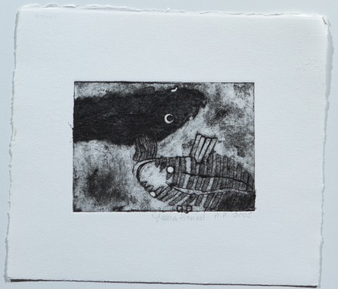 2005. Collagraph Print on Paper. 6 x 4 inches