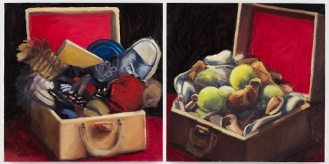 2010 - 2012. Oil on Wood. 16 x 16 inches each